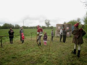 Les archers en pleine démonstration